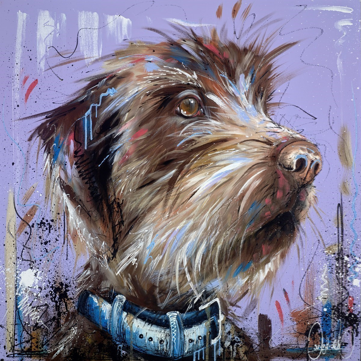 Furry Friend by Samantha Ellis -  sized 30x30 inches. Available from Whitewall Galleries